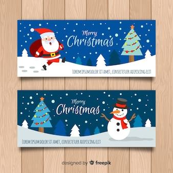 Weihnachtshand gezeichnete zeichen banner