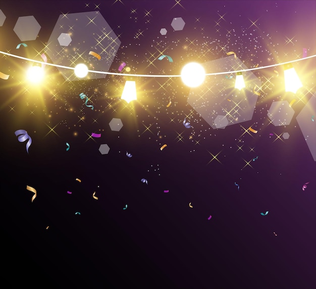 Weihnachtshelle schöne lichtergestaltungselemente glühende lichter für die gestaltung des weihnachtsgrußes c