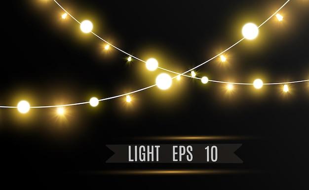 Weihnachtshelle schöne lichtergestaltungselemente glühende lichter für die gestaltung des weihnachtsgrußes