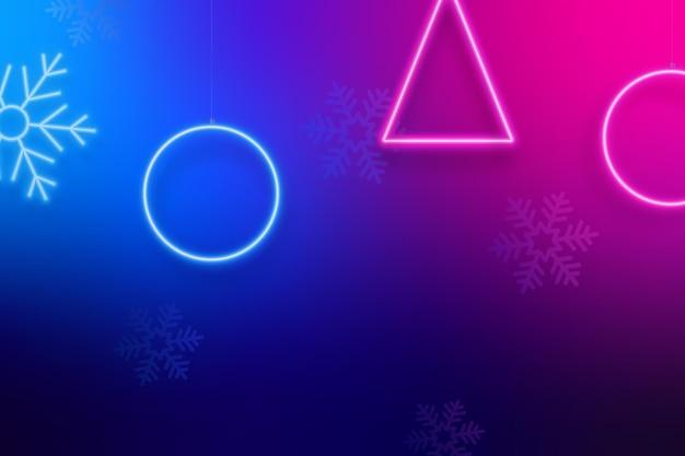 Weihnachtsheller neonhintergrund
