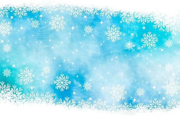 Weihnachtshintergrund im aquarell