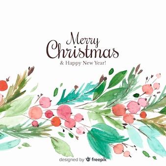 Weihnachtshintergrund im aquarelldesign