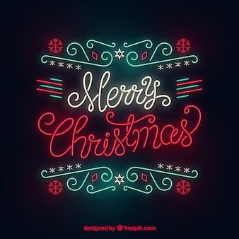 Weihnachtshintergrund im neon
