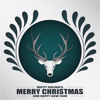Weihnachtshintergrund im papierstil.