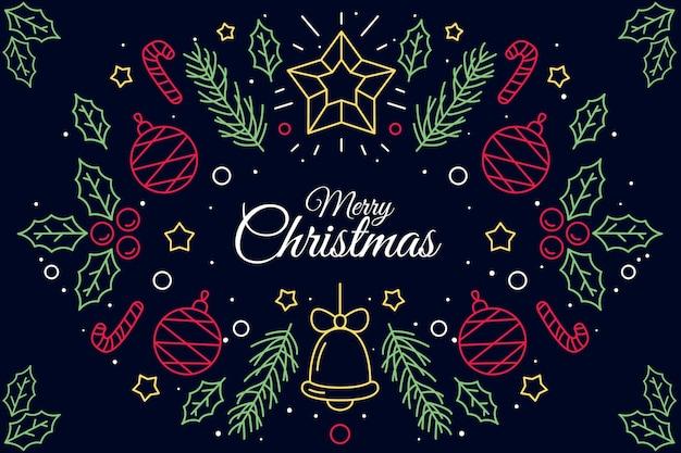 Weihnachtshintergrund in der entwurfsart