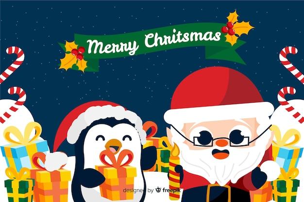 Weihnachtshintergrund in der hand gezeichnet