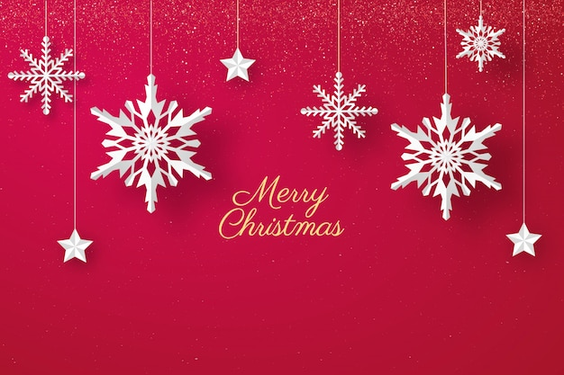 Weihnachtshintergrund in der papierart