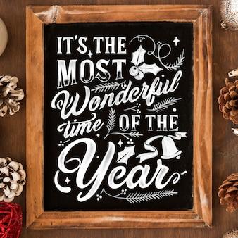 Weihnachtshintergrund mit beschriftung