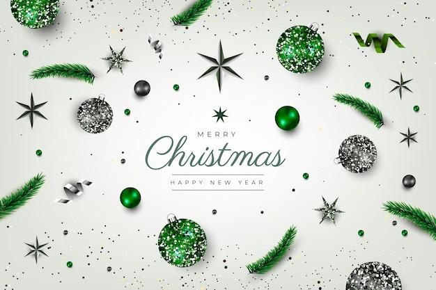 Weihnachtshintergrund mit dekoration