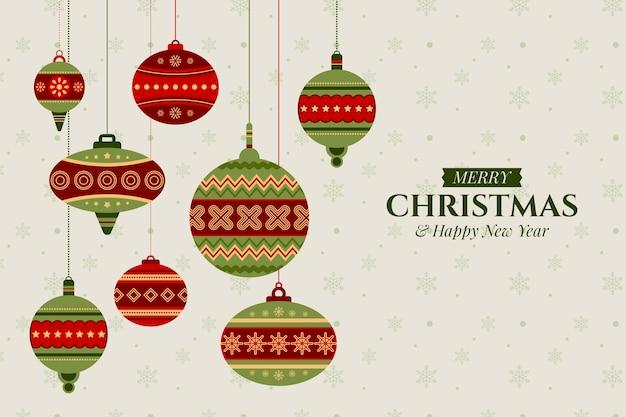 Weihnachtshintergrund mit dekorationen
