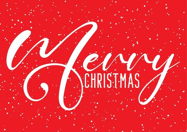 Weihnachtshintergrund mit dekorativem text- und schneeeffekt