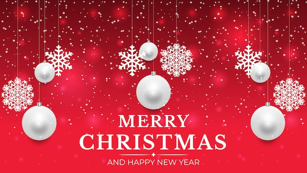 Weihnachtshintergrund mit dem glühen punktiert helle weiße blasenschneeflocken