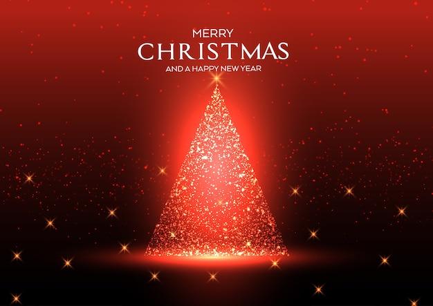 Weihnachtshintergrund mit einem funkelnden baumentwurf