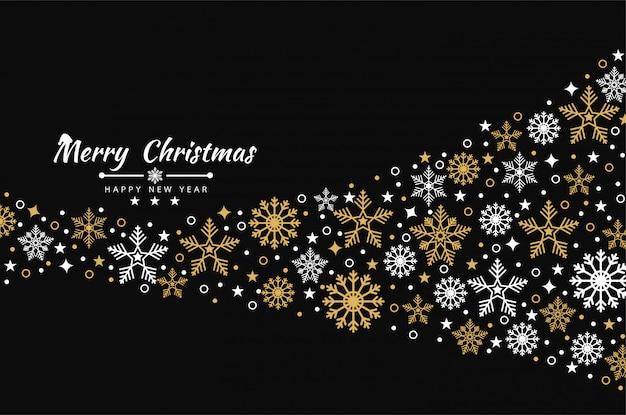 Weihnachtshintergrund mit elementikonenfahne