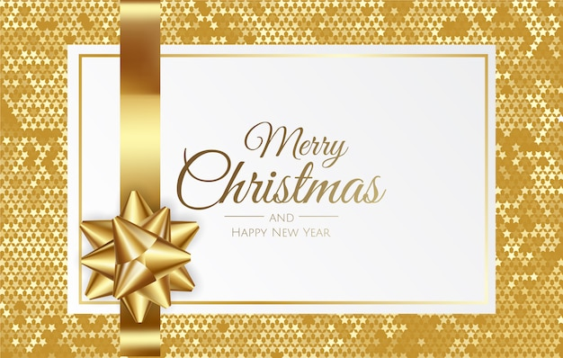 Weihnachtshintergrund mit geschenkbox und band