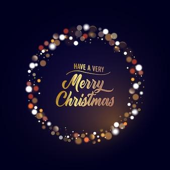 Weihnachtshintergrund mit goldenen lichtern bokeh