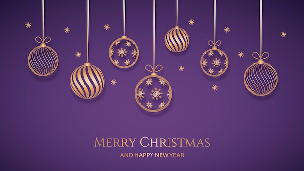 Weihnachtshintergrund mit goldener dekoration in der papierart