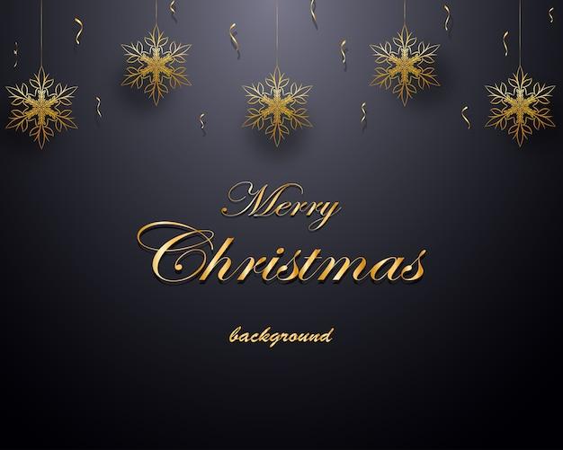 Weihnachtshintergrund mit goldener dekoration.