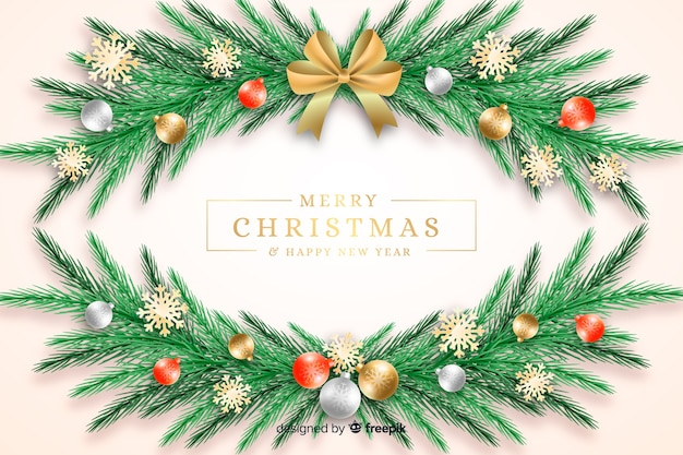 Weihnachtshintergrund mit kranz