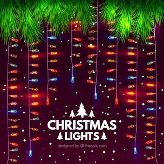 Weihnachtshintergrund mit lichterketten