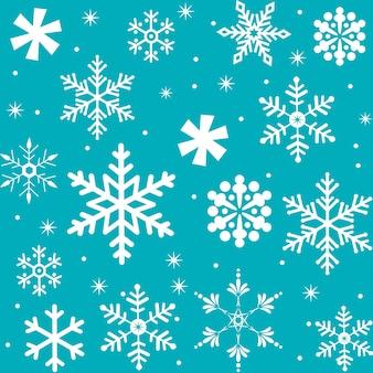 Weihnachtshintergrund mit nahtlosen schneeflocken