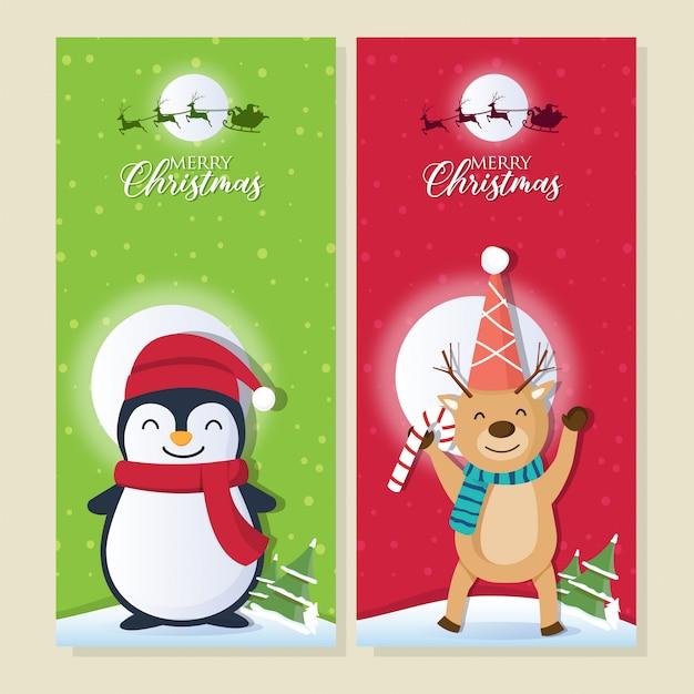 Weihnachtshintergrund mit santa claus und frohen weihnachten