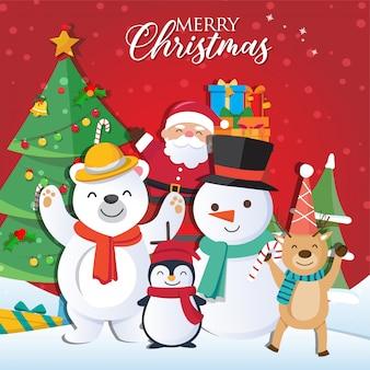 Weihnachtshintergrund mit santa claus