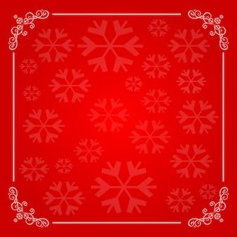 Weihnachtshintergrund mit schneeflockefeld
