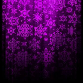 Weihnachtshintergrund mit schneeflocken.