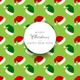 Weihnachtshintergrund mit süßigkeitstexteffekt