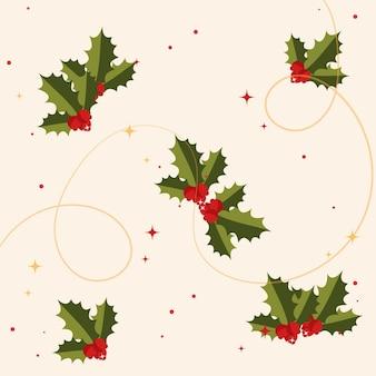 Weihnachtshintergrund mit tannenzweigen und beeren weihnachtshintergrund mit stechpalmenbeeren