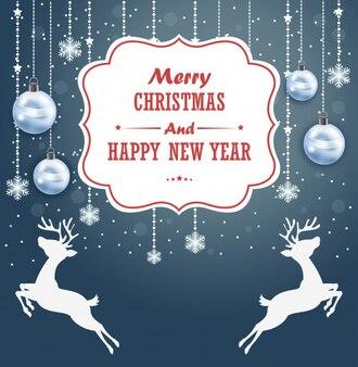 Weihnachtshintergrund mit text