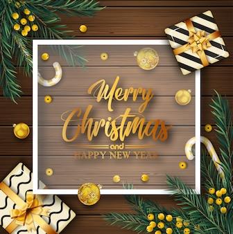 Weihnachtshintergrund mit weihnachtselementen