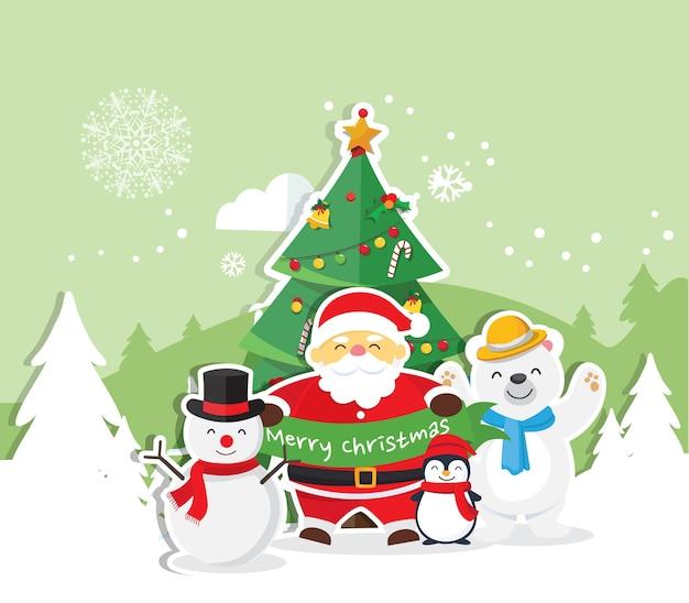 Weihnachtshintergrund mit weihnachtsmann
