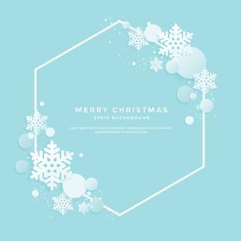 Weihnachtshintergrund mit weißen schneeflocken auf einem blauen hintergrund
