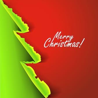 Weihnachtshintergrund mit zerrissenem papierkonzept