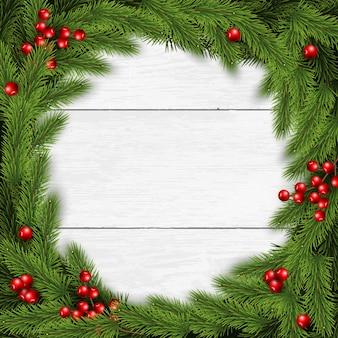 Weihnachtshintergrund mit zweigen