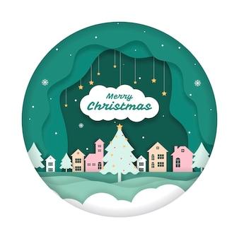 Weihnachtshintergrund-papierschnitt