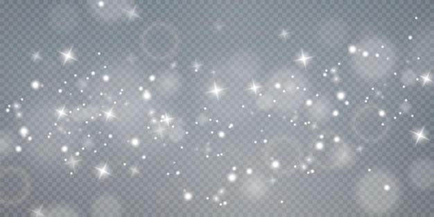 Weihnachtshintergrund pulver png magisch glänzender weißer staub feine glänzende staubpartikel fallen
