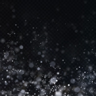 Weihnachtshintergrund von leuchtendem staub weihnachtsglühendes bokeh-konfetti