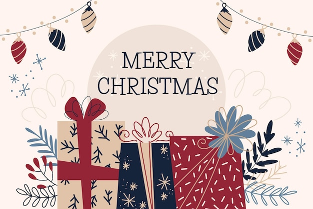 Weihnachtshintergrund zeichnen