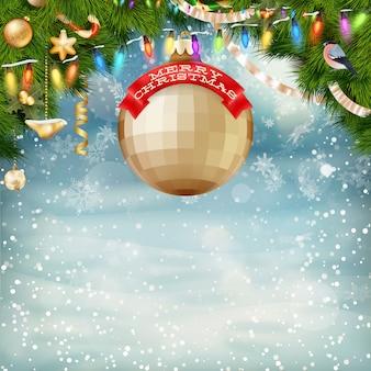 Weihnachtshintergrund.
