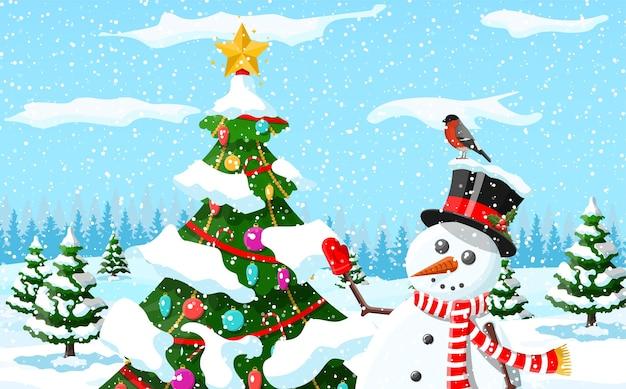 Weihnachtshintergrundillustration