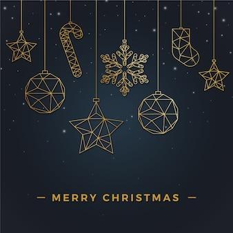Weihnachtshintergrundkonzept in der entwurfsart