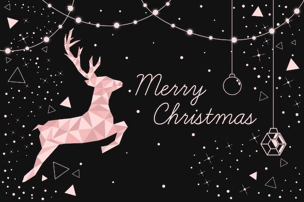 Weihnachtshintergrundkonzept in der polygonalen art