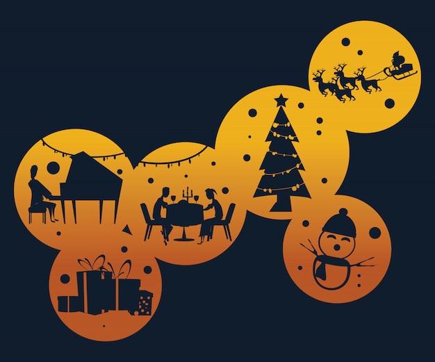 Weihnachtshintergrundvektorabbildung
