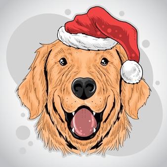 Weihnachtshund weihnachtsmann mütze