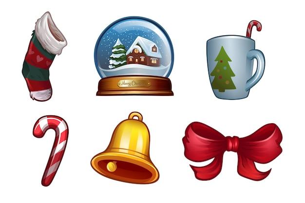 Weihnachtsikonen eingestellt. illustration
