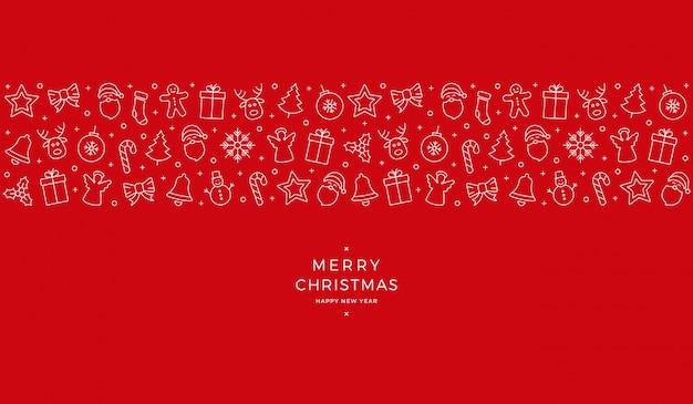 Weihnachtsikonenelement-fahnen-roter hintergrund