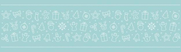 Weihnachtsikonenelement-randeis-blauer hintergrund